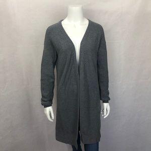 Athleta Gray Knit Long Cardigan Sweater M